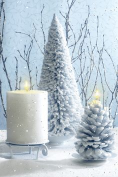 ❄️ WINTER CANDLE SNOW GIF ❄️