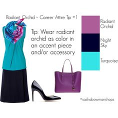Blog Post: How to Wear Radiant Orchid in Career Attire