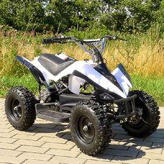 Mini Elektro Kinderquad Racer 800 Watt ATV PocketQuad weiß - http://www.mini-quads.de/produkt/mini-elektro-kinderquad-racer-800-watt-atv-pocketquad-weiss/ - #miniquad #miniquads #kinderquad