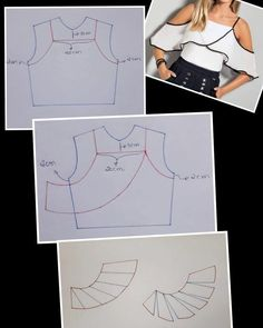 Best 11 Blusa con manga de capa asimétrica diy talla 46 p… – – SkillOfKing. Dress Sewing Patterns, Clothing Patterns, Fashion Sewing, Diy Fashion, Moda Fashion, Fashion Logos, Sewing Clothes, Diy Clothes, Fanni Stitch