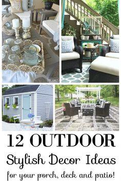12 Stylish Porch, Deck and Patio Decor Ideas