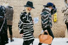 45 Street Style Snaps From the Blizzardy NYFW Day 8 - NYFW Fall 2014 - Racked National