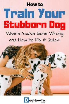 How to train a stubborn dog. Find out the root cause behind your dog acting dominant towards you, and find out how to teach your stubborn dog obedience the easy way by reading this article! Dog Training Techniques, Dog Training Videos, Puppy Training Tips, Training Your Puppy, Training Classes, Brain Training, Training School, Training Online, Training Pads