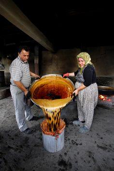 Pancar Pekmezi Yapımı-Kırklareli / Poyralı Köyü / Ekim 2012