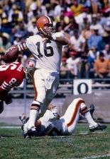 Cleveland Browns quarterback Bill Nelsen (16) in action against the San Francisco 49ers at Kezar Stadium. Description from spokeo.com. I searched for this on bing.com/images