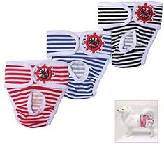Amazon.com : TONY HOBY Washable Cute Stripe Dog Diaper (3 Pack) of Durable Diaper for Male & Female Dog Diapers : Pet Supplies Yorkie Breeders, Female Dog Diapers, Dog Pajamas, Dog Shirt, Pet Clothes, Best Dogs, Baby Animals, Pet Supplies, Your Pet