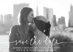 """""""Boho Love"""" - Full-Bleed Photo, Modern Save The Date Cards in Lily by Christine Taylor."""