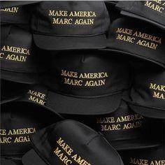 트럼프 미국 대통령의 #MAKEAMERICAGREATAGAIN 을 패러디한 'MAKE AMERICA _____AGAIN' 시리즈에 디자이너 마크제이콥스도 합류했군요#MAKEAMERICAMARCAGAIN 스냅백을 공개했습니다 마크제이콥스 매장과 온라인 숍에서 $65에 한정판매중입니다(@marcjacobs Gukhwa Hong) _ #MarcJacobs created his own #parody of #DonaldTrump's slogan 'Make America Great Again' with a #hat that reads 'Make America Marc Again' now available in limited quantities at on and offline stores for $65. #Trump #Vogue #VogueKorea #美国 #总统 #特朗普  via VOGUE KOREA MAGAZINE OFFICIAL INSTAGRAM - Fashion Campaigns…