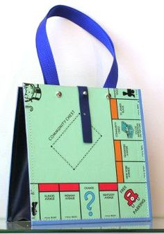 purses handbags made from upcycled game boards