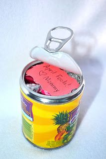 Come Together Kids: April Fools! Candy in a Fruit Can - would also be a cute surprise for a birthday (though Sophie would probably rather have the fruit!!)