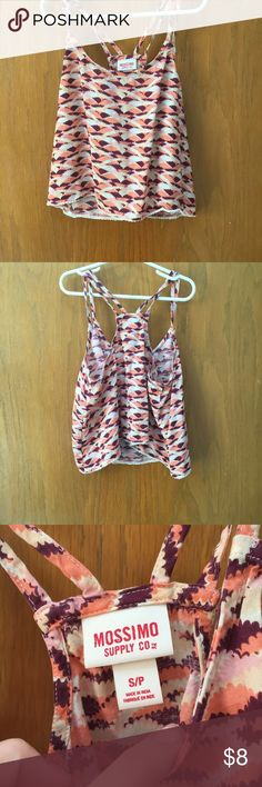 Mossimo tank Super cute Mossimo tank! Size S. Multi color! In perfect condition! Unfair price?? Make me an offer  Mossimo Supply Co Tops Tank Tops
