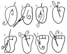 How to make Amigurumi toes