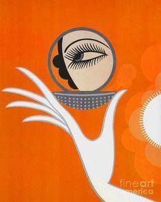 Art Deco Fashion illustration Art Print by Tina Lavoie