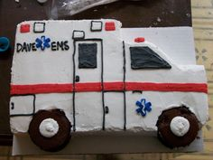 Image result for ambulance cake