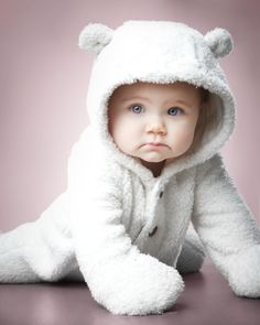 Winter themed baby photo