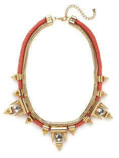 BB gold spiral crystal collar