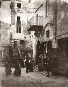 Roma Sparita - Ghetto - Case medievali 1880 Italy Pictures, Old Pictures, Old Photos, Vintage Photos, Best Cities In Europe, Rome Travel, Ancient Architecture, Vintage Italian, Love Art
