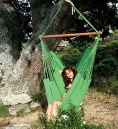 Mooie groene hangstoel van Marañon.