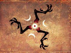 Crowsfoot Trinacria - Manx Italian Strega Witch Sicily Raven Talisman Print 9x12 by Stephanie Lostimolo