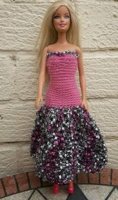 Linmary Knits: Barbie crochet prom dresses