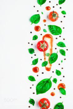 Tomato sauce pattern