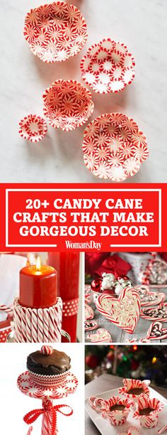 Deck your halls with these pretty candy cane crafts that make adorable decorations. These DIY candy cane crafts are simple and can be made as Christmas decorations, favors or dessert. Start the holiday season with a fun DIY craft. Candy Cane Reindeer, Candy Cane Christmas Tree, Christmas Tree Themes, Christmas Crafts, Peppermint Christmas Decorations, Reindeer Food, Christmas Tables, Christmas Parties, Christmas Quotes