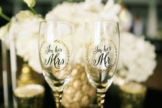 His and Hers groom and bride glasses - Anna Kim Photography