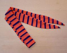 headband foulard à nouer rayé rouge et bleu La par LMDMshop