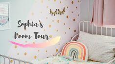 Sophia's Room Tour | Toddler Girl Bedroom Inspiration Paris Bedroom, Kids Bedroom, Notes Design, Room Tour, Bedroom Inspiration, Geometric Shapes, Girl Room, Wall Stickers, Toddler Girl