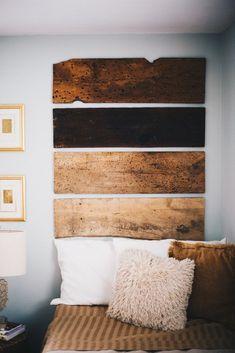 reclaimed wood headboard | bohemian style