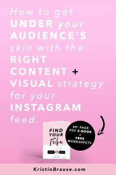 """Are you struggling to find your tribe on Instagram? And do you feel a teeny-tiny bit jealous of those 10k+ accounts that make it look so easy, and get you wondering """"What are they doing that I'm not?"""" I'll tell you what they are doing differently: they have found the right audience for their brand. They have figured out exactly WHO THEIR brand is serving, HOW, WHAT and WHY. How to grow their followers and followings, how to grow their audience and their business and make sales."""