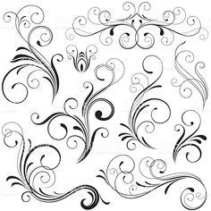 Scrolls royalty-free stock vector art