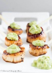 Velvety smooth scallops with beautifully caramelized crust and topped ...