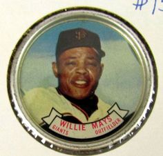 1964 Topps Baseball Pin/Coin #80 Willie Mays San Francisco Giants Excellent #sfgiants