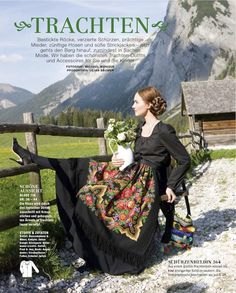 dirndl pattern in burda style magazine - i wish I could find a great bodice pattern - so far mine just aren't structured enough. Boho Gypsy, Dirndl Dress, Folk Fashion, Vestidos Vintage, Russian Fashion, German Fashion, Folk Costume, Costumes, Poses