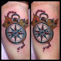 old school compass tattoos - Google Search