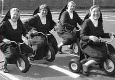 These sisters know how to have a good time! These vintage photographs below reveal the surprising side of convent life. Here are nuns on rol.