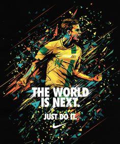 Brett Holman on a Nike poster for 2014 World Cup! Web Design, Game Design, Design Art, Design Ideas, Sports Advertising, Sports Marketing, Sports Art, Kids Sports, Sports Posters
