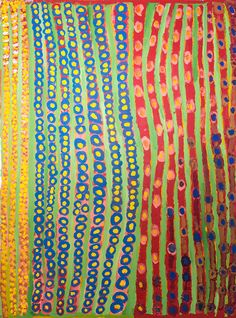 Wet season - Rosie King Tarku - 120x90 http://www.aboriginalsignature.com/art-aborigene-mangkaja/wet-season-rosie-king-tarku-120x90