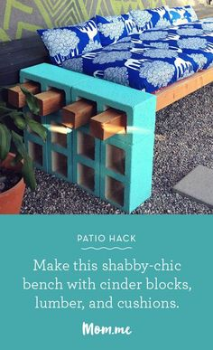 If you are looking for the perfect way to revamp your outdoor patio on a budget, try doing this DIY project with cinderblocks!