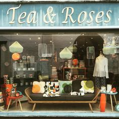 Shop Window Displays, Store Displays, Retail Displays, Rose Tea, Tea Roses, Shop Work Bench, Shop Icon, Signage Design, Shop Plans