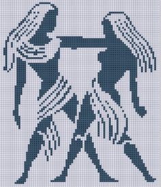 Zodiac Gemini Cross Stitch Pattern by MotherBeeDesigns on Etsy