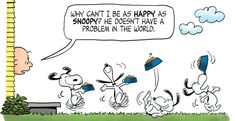 It's a choice you have to make :) Kaboom Peanuts Series Happy Snoopy, Snoopy Love, Charlie Brown And Snoopy, Snoopy And Woodstock, Peanuts By Schulz, Peanuts Snoopy, Peanuts Comics, Peanut Pictures, Charlie Brown Characters
