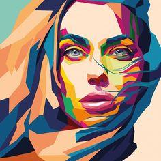 S l a v a on behance pop art в 2019 г. Pop Art Portraits, Portrait Art, Art Watercolor, Small Canvas Art, Art Drawings Sketches, Art Pages, Face Art, Art Girl, Amazing Art