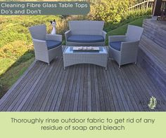 Detergent build-up can leave outdoor fabrics looking lacklustre…