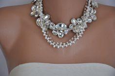 NUEVA colección grueso nupcial perlas de agua por HMbySemraAscioglu, $168.00
