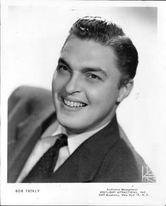 Vocalist, Bob Eberly  (July 24, 1916, – November 17, 1981) - Birth name: Robert Eberle - Birth place: Mechanicville, New York - Place of death: Glen Burnie, Maryland - Older brother of Ray Eberle - Bob was a vocalist with Jimmy Dorsey's Orchestra for many years and his brother, Ray, sang with Glenn Miller's Orchestra.