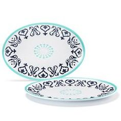 Azul Collection Melamine Platters Set of 2