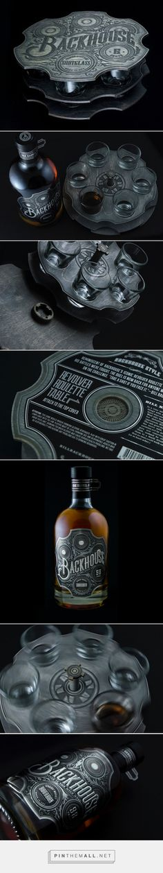 Backhouse - Shot Glasses & Bourbon Packaging