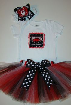 Arkansas Razorback Tutu Set by munchkinpiedesigns on Etsy, $35.00